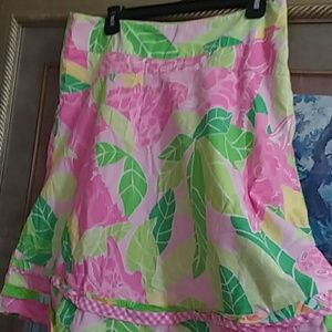 Lily Pulitzer multicolor knee length lined skirt 8